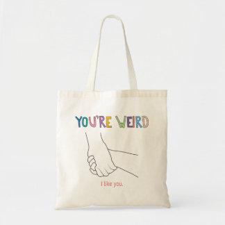 Tote Bag De meilleurs amis étranges tenant des mains