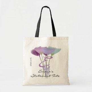 Tote Bag Déclaration lilas mignonne Fourre-tout de la