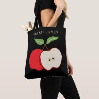Tote Bag Demi d'Apple ajoutent le nom du professeur