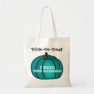 """Tote Bag """"Des bonbons ou un sort !"""" Citrouille de Teal"""