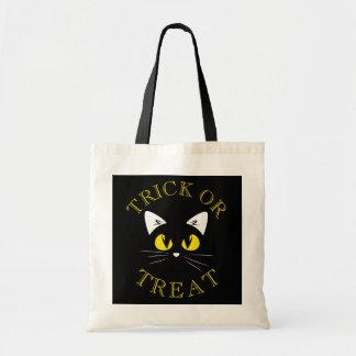 Tote Bag Des bonbons ou un sort de costume de chat noir de