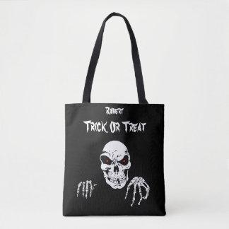 Tote Bag Des bonbons ou un sort de crâne de Halloween