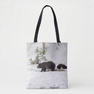 Tote Bag Des ours gris dans la neige tout plus de -