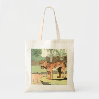 Tote Bag Dessin africain de tigre