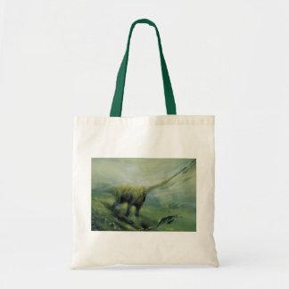 Tote Bag Dinosaures vintages, natation de Brachiosaurus
