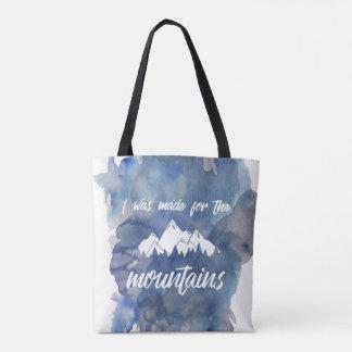 Tote Bag Dirigé vers l'aquarelle Fourre-tout de montagnes