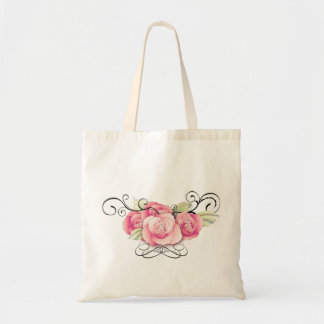 Tote Bag Douche nuptiale de damassé de Steampunk de rose