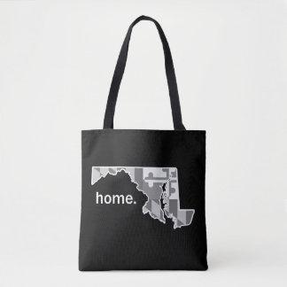 Tote Bag Drapeau du Maryland/état fourre-tout à la maison -