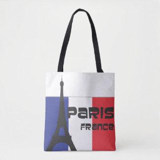 Tote Bag Drapeau français et Tour Eiffel et Paris France