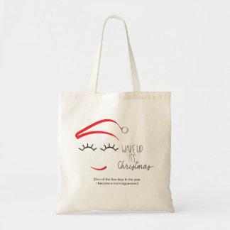"""Tote Bag Drôle, intelligent, """"réveillez-le est des mèches"""