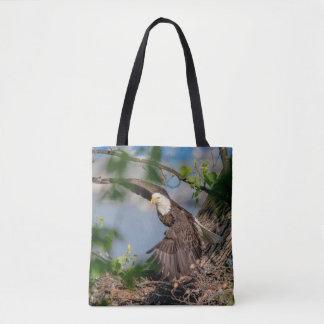 Tote Bag Eagle chauve partant du nid