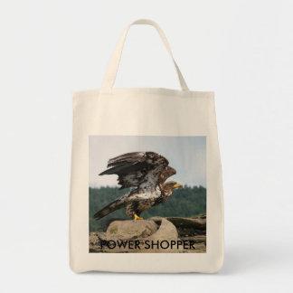 Tote Bag Eagle chauve prêt pour le vol, CLIENT de PUISSANCE