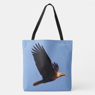 Tote Bag Eagle chauve stupéfiant dans le vol de coucher du