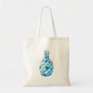 Tote Bag Eco Fourre-tout amical avec l'ananas bleu