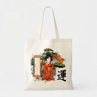 Tote Bag Ecobag Illustration Geisha