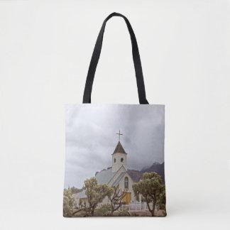 Tote Bag Église d'Elvis aux montagnes de superstition