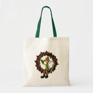 Tote Bag Elf drôle des vacances de Noël de guirlande