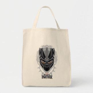 Tote Bag Emblème de tête de panthère noire de la panthère
