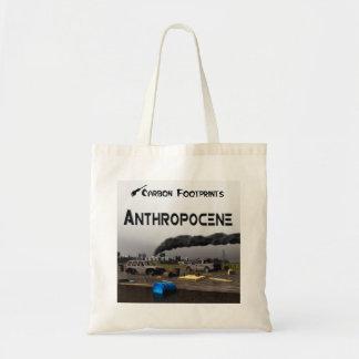 Tote Bag Empreintes de pas de carbone - Anthropocene