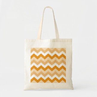 Tote Bag En zigzag le modèle (orange et blanchir à la