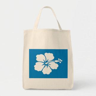 Tote Bag Épicerie bleue Fourre-tout de ketmie de motif