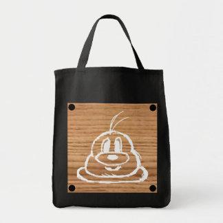 Tote Bag Épicerie en bois Fourre-tout 1 de noir de 鮑鮑 de