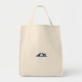 Tote Bag Épicerie Fourre-tout avec les terriers écossais