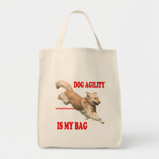 Tote Bag Épicerie Fourre-tout d'agilité de chien