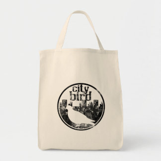 Tote Bag Épicerie Fourre-tout d'oiseau de ville