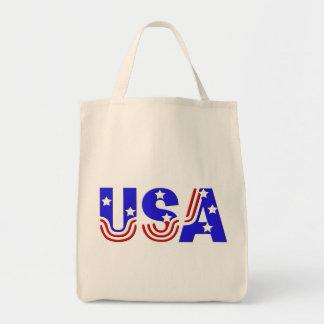 Tote Bag Épicerie Fourre-tout - Etats-Unis dans les étoiles