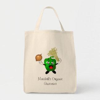 Tote Bag Épiceries organiques de Cajun de poivron vert
