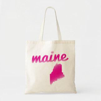 Tote Bag État du Maine dans le rose