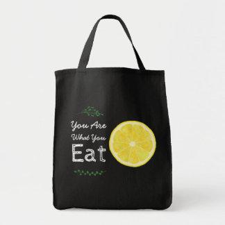Tote Bag Êtes ce qui vous mangez le citron et laissez vous