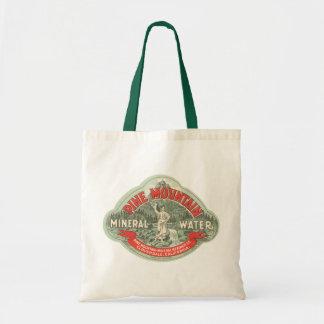 Tote Bag Étiquette vintage de produit, l'eau minérale de