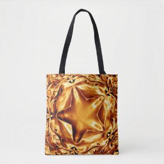 Tote Bag Étoile chic élégante Fourre-tout brillant de Noël