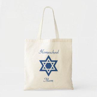 Tote Bag Étoile de David juive de maman de Homeschool