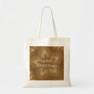 Tote Bag Étoile élégante de kaléidoscope de Noël de Brown