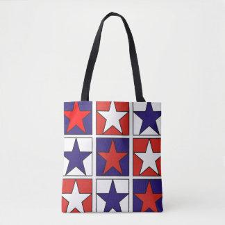 Tote Bag Étoiles tricolores patriotiques