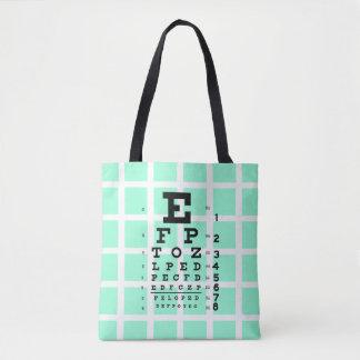 Tote Bag Examinez vos yeux : Rétro diagramme d'oeil et