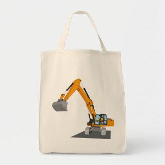 Tote Bag excavatrice de chaîne orange