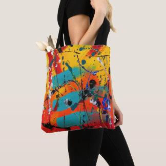 Tote Bag Expressioniste moderne abstrait coloré artistique