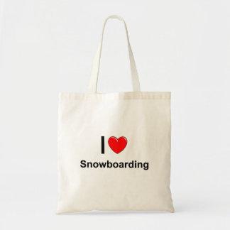 Tote Bag Faire du surf des neiges