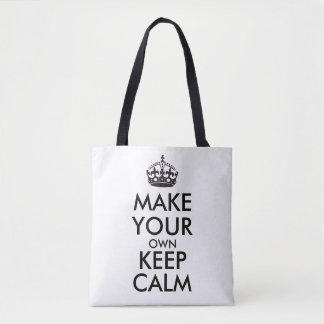 Tote Bag Faites vos propres garder le calme
