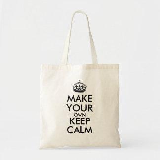 Tote Bag Faites vos propres garder le calme - noir