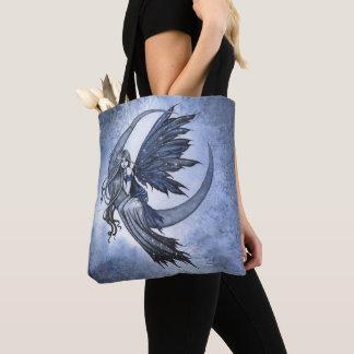 Tote Bag Fée sur l'art d'imaginaire de croissant de lune