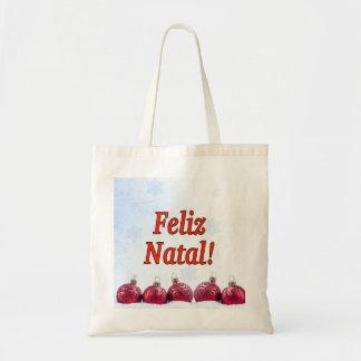 Tote Bag Feliz natal ! Joyeux Noël dans le rf portugais