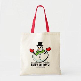 Tote Bag Fête de vacances mignonne de Noël de bonhomme de