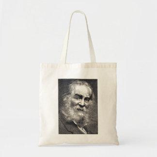 Tote Bag Feuille de Walt Whitman de gravure d'herbe