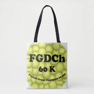 Tote Bag FGDCh 60K, champion grand de Flyball, 60.000