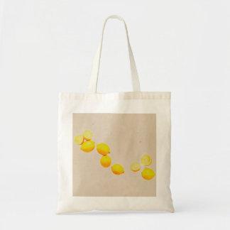 Tote Bag Ficelle des citrons sur l'arrière - plan vintage